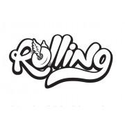 Adesivo Rolling Preto e Branco